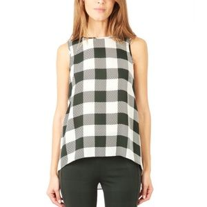 {Rag & Bone} Silk Plaid Harper Tank Top